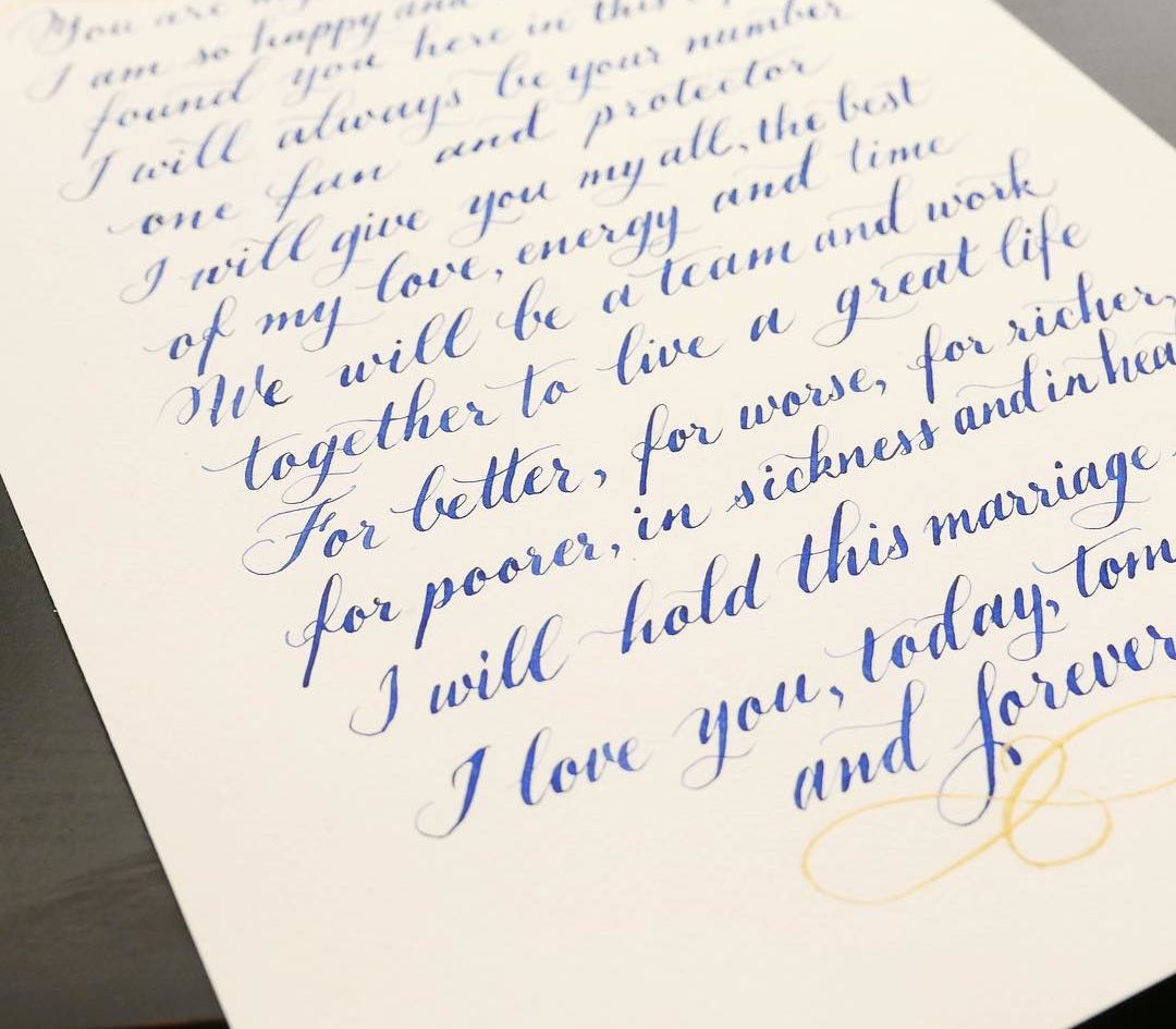 The Traditional Style Of Copperplate Calligraphy Makes A Nice Juxtaposition With Modern Memes And Song Lyrics