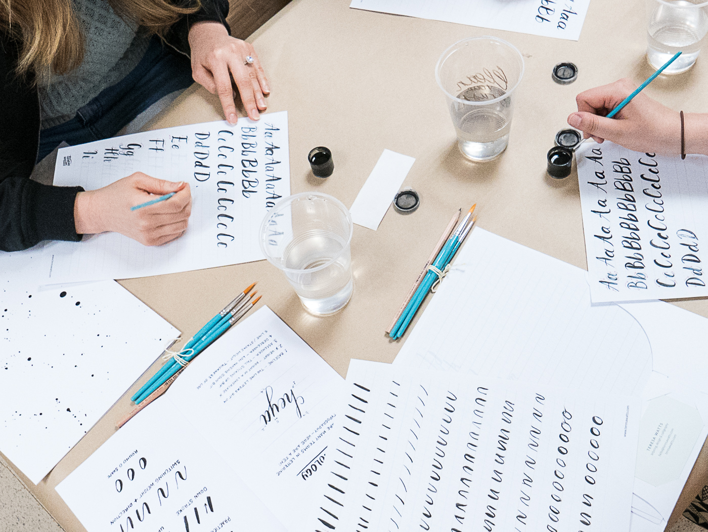 Learn brush lettering techniques in a perth beginners workshop