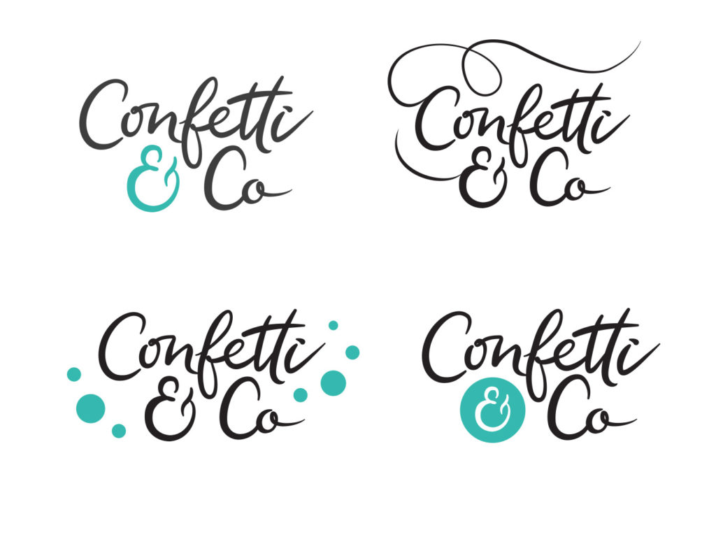 Confetti & Co logo design for wedding event planners
