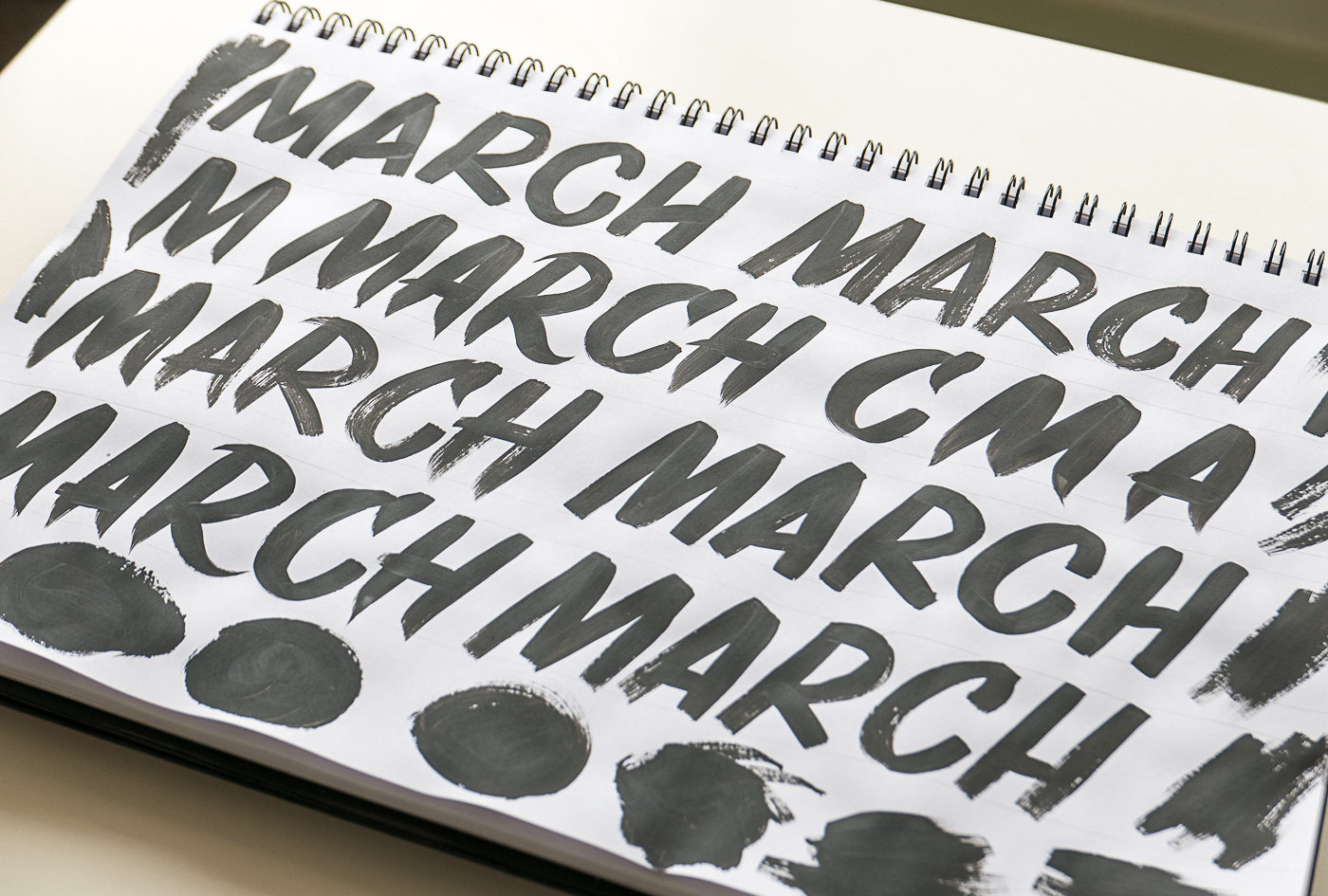 March calendar brush work