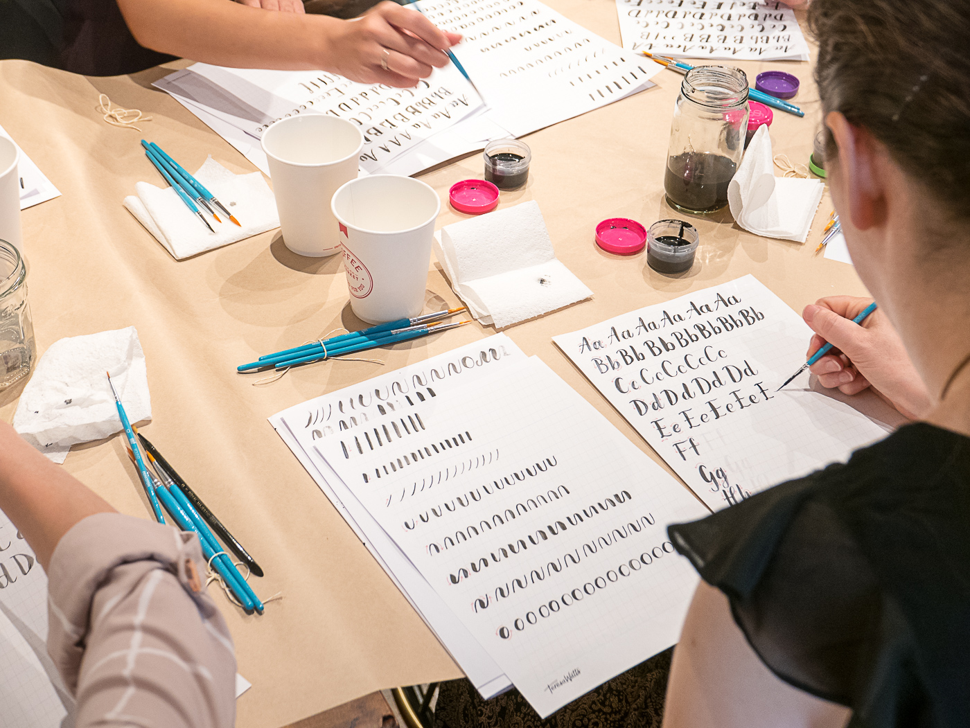 January Brush calligraphy workshop