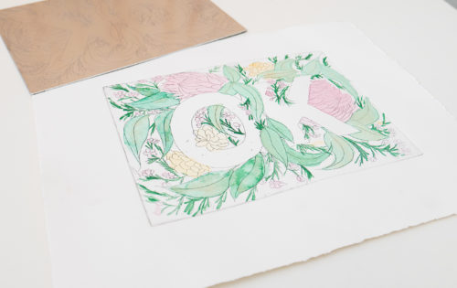 Learning Floral Illustration & Etching