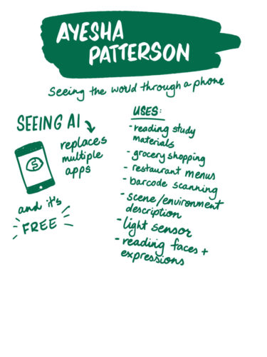 Ayesha Patterson on seeing the world through a phone using Seeing AI app