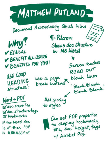 Matthew Putland on accessible documents
