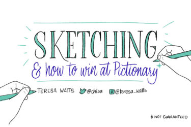 Sketching and how to win at Pictionary title slide