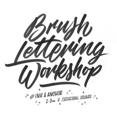 Ink and Anchor brush lettering workshop