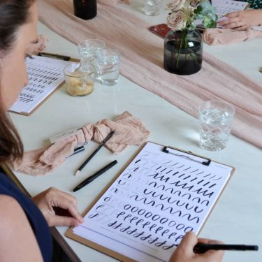 Mystrie brush calligraphy workshop