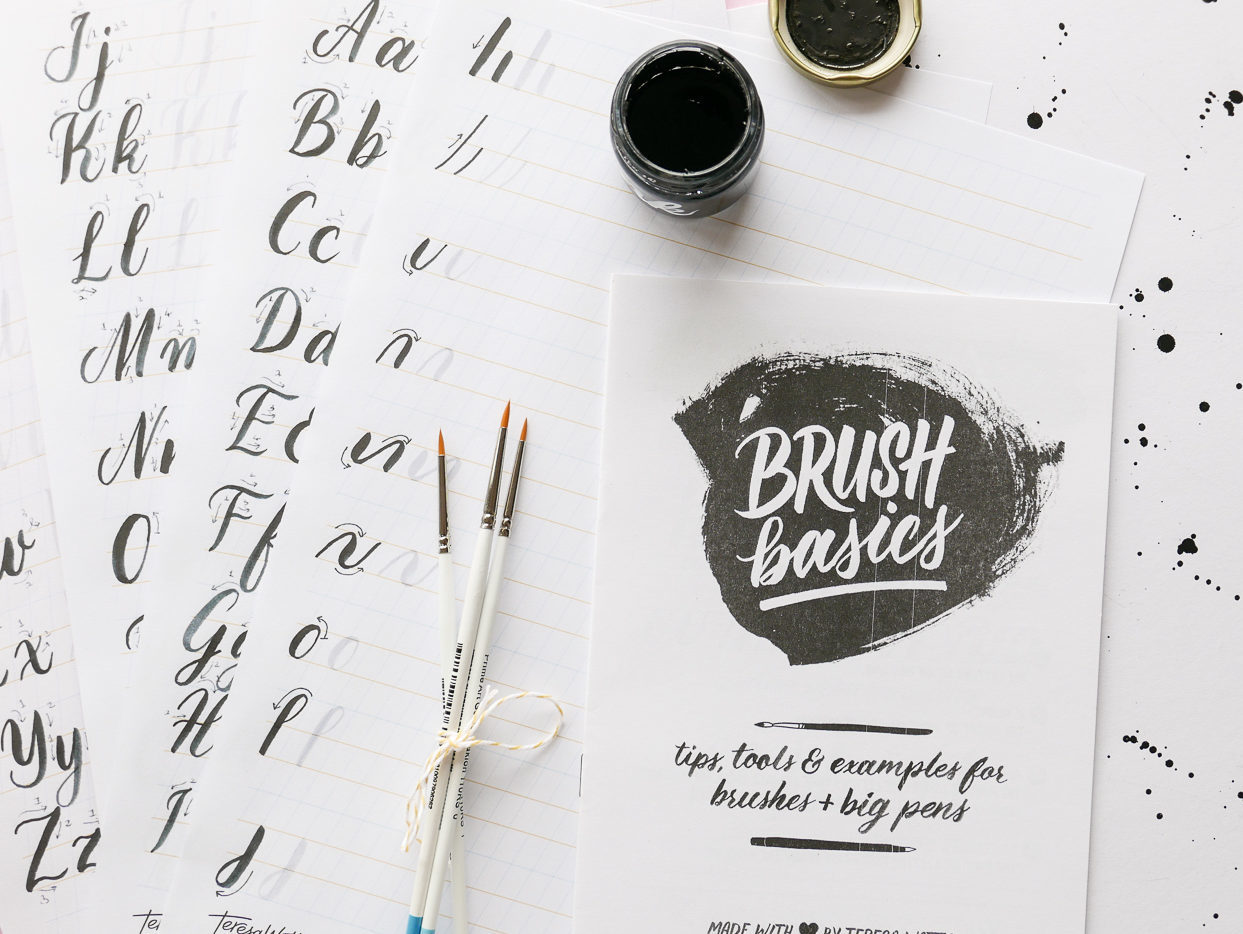 Brush Basics lettering workshop kit