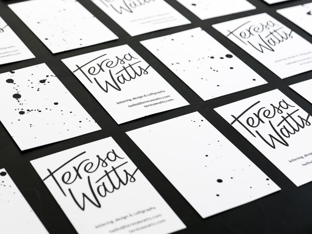 Teresa Watts business card design and logo design