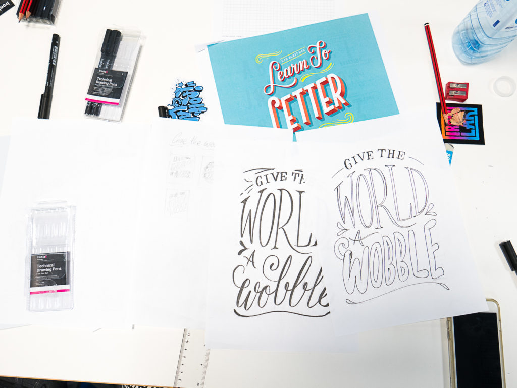 Learning lettering with Lauren Hom