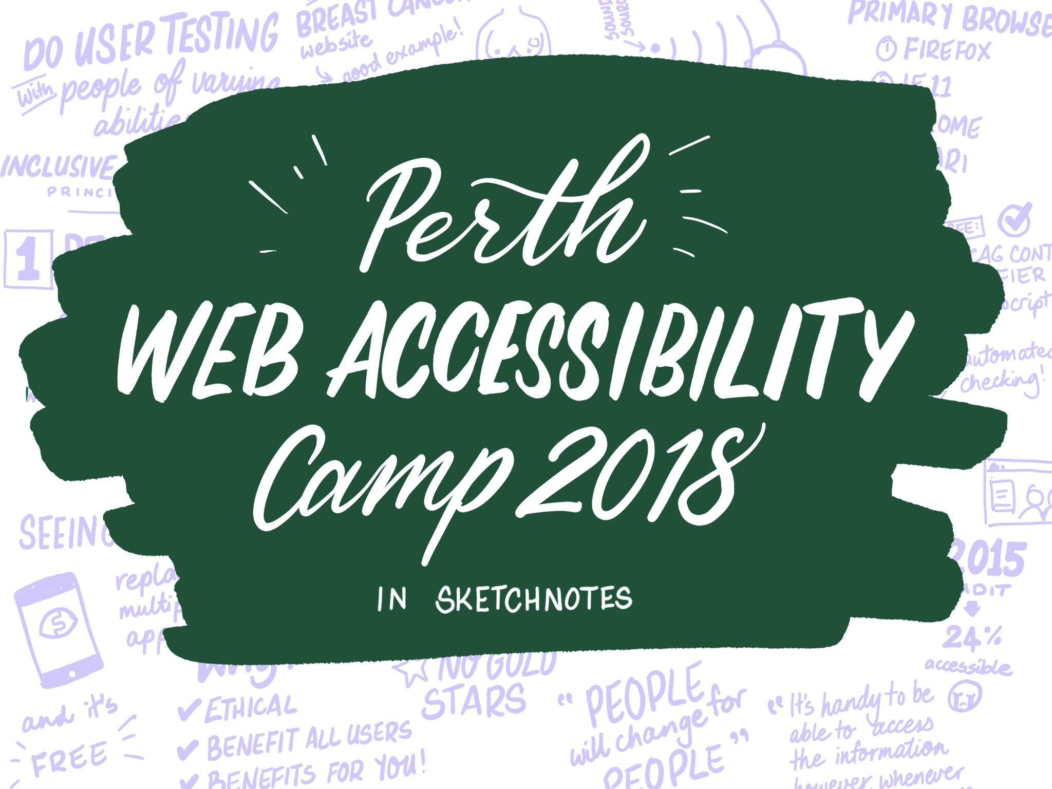 Perth Web Accessibility Camp 2018 in sketchnotes