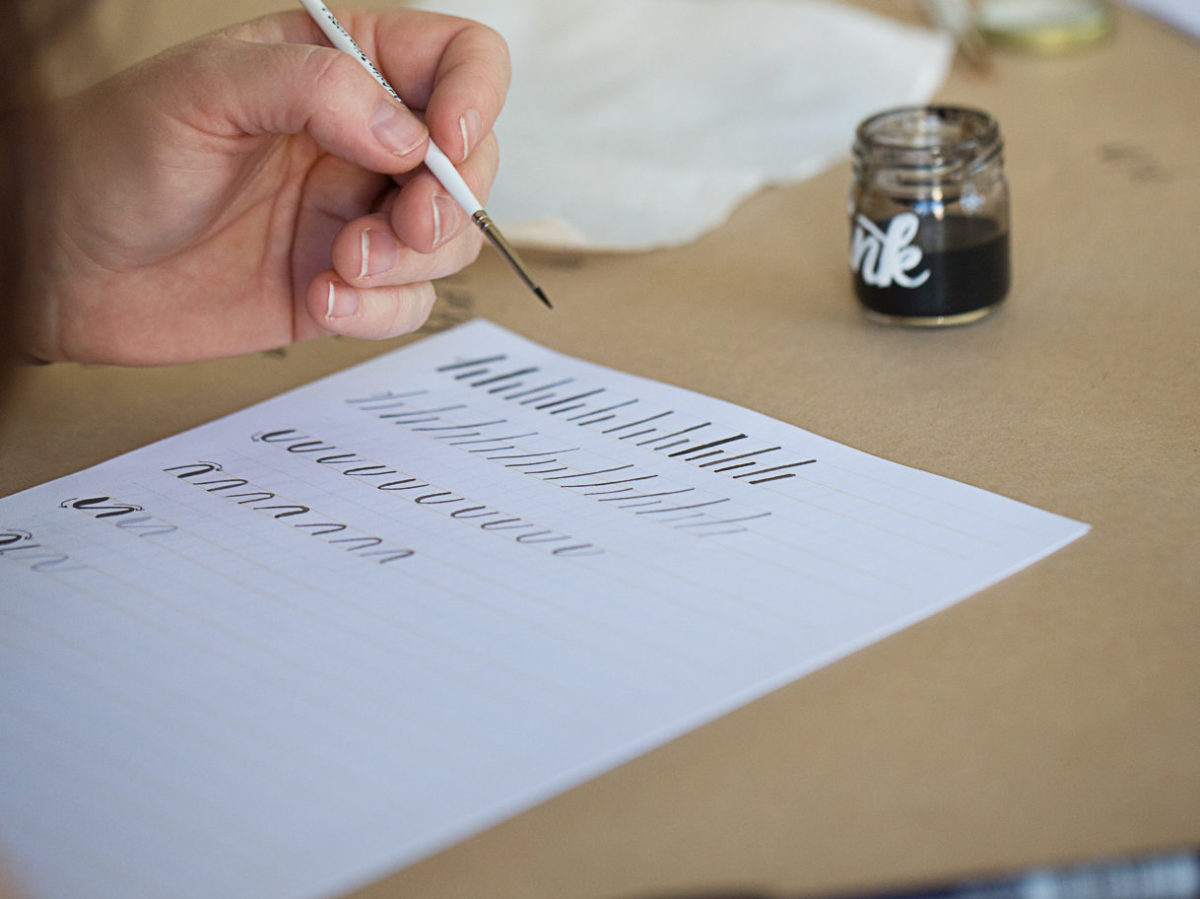 Photo from brush lettering workshop