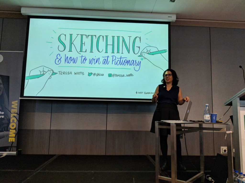 Photo of me giving this talk at the DDD Perth 2018 conference